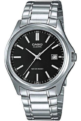 Casio MTP-1183A-1AEF- Reloj analógico de cuarzo para hombre, correa de acero inoxidable color plateado: Amazon.es: Relojes