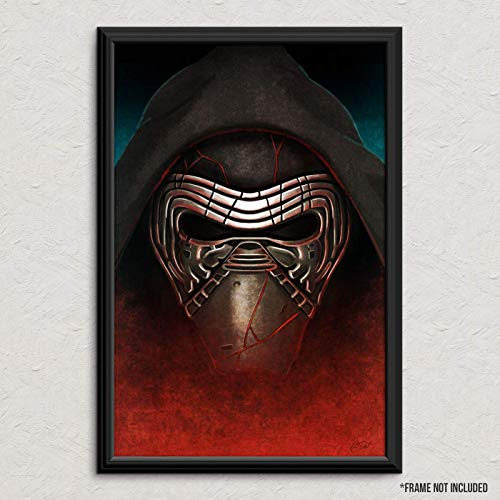 Kylo Ren Portrait - Star Wars - Original Art Poster Print