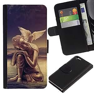 All Phone Most Case / Oferta Especial Cáscara Funda de cuero Monedero Cubierta de proteccion Caso / Wallet Case for Apple Iphone 6 // Peace of mind Buddha Dove