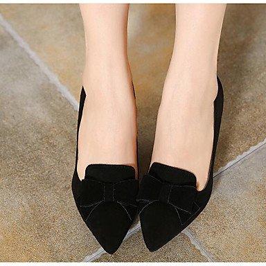 Chaussures Femme Décontracté Lvyuan Cuir Black Gris Bourgogne Talons ggx De À Printemps Confort Plat Croûte Noir qEvnvF5wR