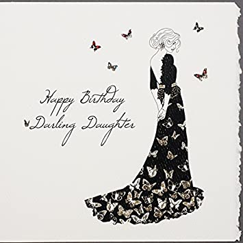 Happy Birthday Darling Daughter   Handmade Birthday Card   S36