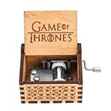 Akozon 1pc Wooden Hand Crank Music Box Mechanical Classic Craft Birthday Gift(Game of Thrones)