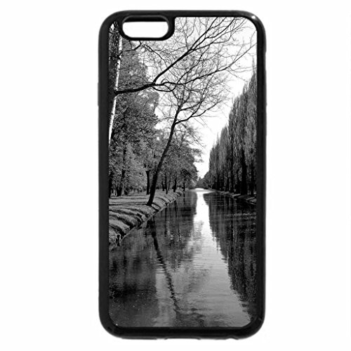 iPhone 6S Case, iPhone 6 Case (Black & White) - Blackwater River