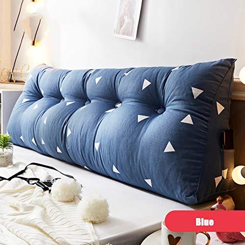 bleu 60X21X45CM Cale Coussin Triangulaire coussin Soucravaten du cou Coussins de lecture Coussin de repos pour chaise de bureau,bleu,60X21X45CM