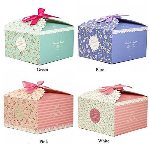 Chilly Gift Boxes, Set of 12 Decorative Treats Boxes, Cookies, Goodies, Candy and Homemade Soaps Gift Boxes for Christmas, Birthdays, Holidays, Weddings