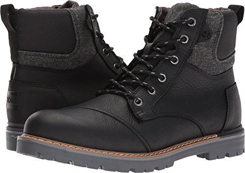 TOMS Men's Ashland Waterproof Boot Black Pull-Up Leather 9 D US