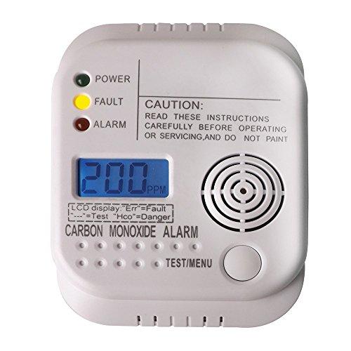 Nemaxx 1x CO Melder Kohlenmonoxid Gasmelder Gaswarner Rauchmelder nach DIN EN50291