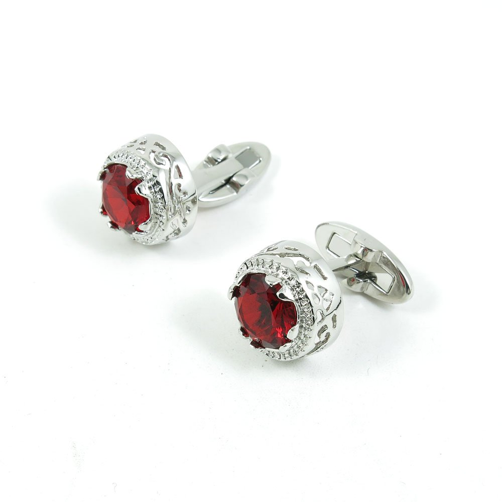 5 Pairs Cufflinks Cuff Links Classic Fashion Jewelry Party Gift Wedding 593475 Red Crystal Hollow