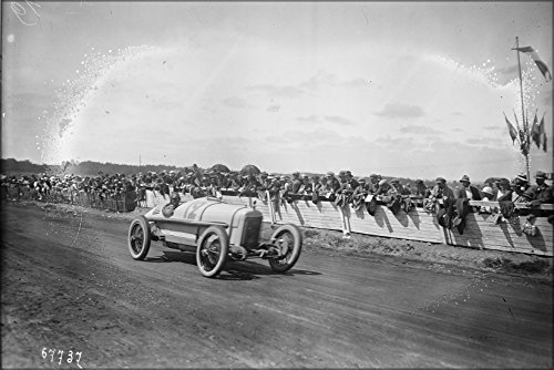 - 24x36 Poster . Jimmy Murphy In Duesenberg 1921 French Grand Prix Le Mans