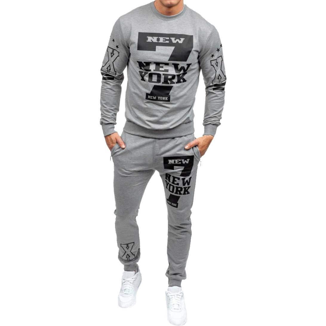Tootu Men's Tracksuit, Autumn Winter Printed Sweatshirt Pants Sets Sports Suit Tootu Men' s Tracksuit