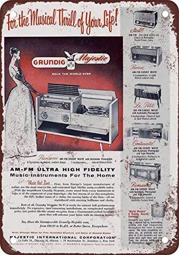 - FemiaD 1956 Grundig Radios Vintage Look Reproduction Metal Tin Sign 12