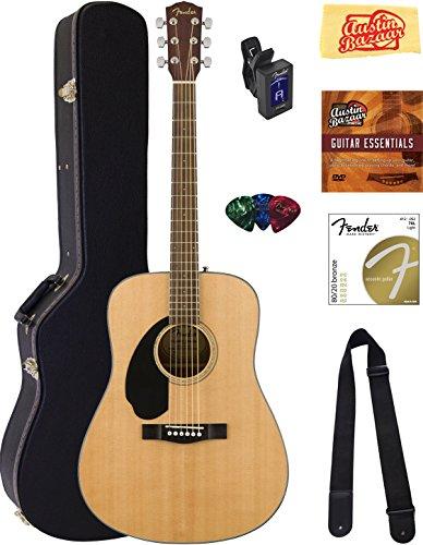fender-cd-60s-dreadnought-acoustic-guitar-left-handed-natural-bundle-with-hard-case-tuner-strap-stri