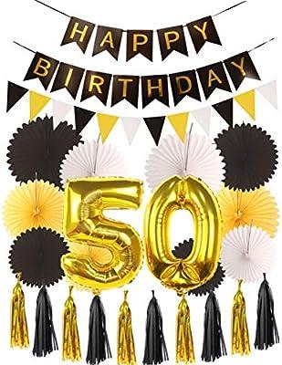 Kit de decoración para fiesta de 50 cumpleaños - Cartel ...