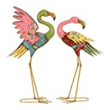 Deco 79 Metal Flamingo Statue (Set of 2), 28''/32''