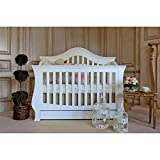 Million Dollar Baby Classic Ashbury 4-in-1 Convertible Crib with Toddler Bed Conversion Kit, White For Sale