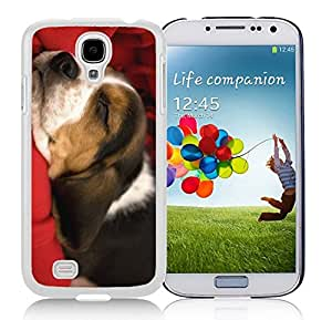 Recommend Design Christmas Cute Sleeping Dog Durability White TPU Case For Samsung Galaxy S4,Samsung I9500