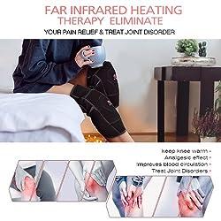 Heating Knee Pad - Left Heated Knee Brace Far Infrared Heat Therapy Heating Knee Brace Wrap for Arthritis Pain Rheumatism Varicose Veins Joint Pain Graphene Knee Heating Pad Left with USB Cord