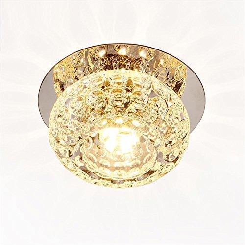 Pendant Lights Corridor Mirror Ceiling Lamp Aisle Veranda Lighting Down Crystal Mordern Dark Loaded 3w LED Ceiling Lights For Living Room , (Burgandy Ceiling Lighting)