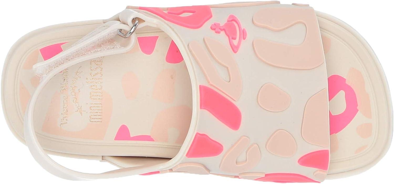 Mini Melissa Girls VWA Mini Beach Slide Sandal II Beige//Pink 7 Medium US Toddler