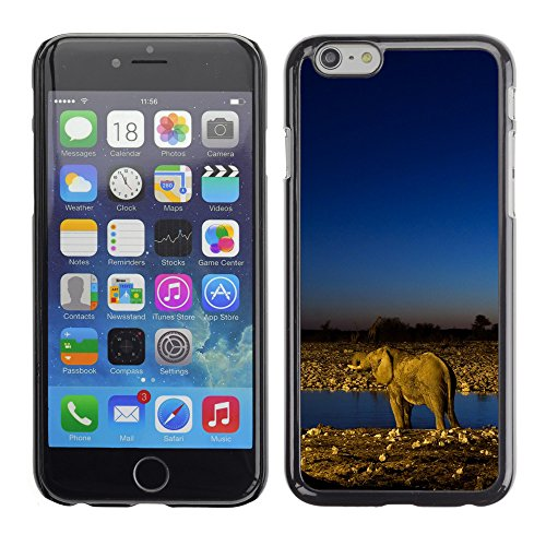 Premio Sottile Slim Cassa Custodia Case Cover Shell // V00002843 Les éléphants d'Afrique // Apple iPhone 6 6S 6G 4.7""