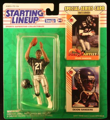 1993 Deion Sanders Atlanta Falcons Kenner SLU Starting Lineup NFL Football figure