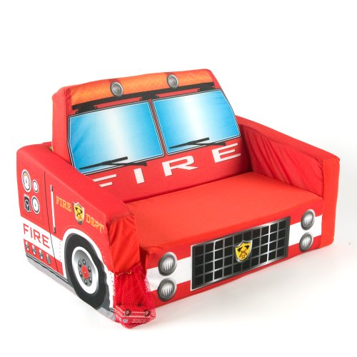 Amazon.com: Marshmallow Fun Furniture Flip Open Sofa With Play Mat   Fire  Truck: Toys U0026 Games