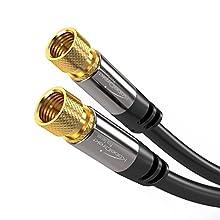 KabelDirekt 5m Cable de Satélite Coaxial, (Conector F a Conector F, Clase A, señales analógicas e digitales, TV y receptores), PRO Series