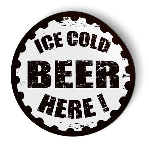 Ice Cold Beer Here - Flexible Magnet - Car Fridge Locker - 5
