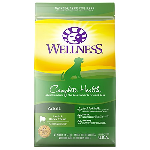 Wellness Complete Health Natural Dry Dog Food, Lamb & Barley,...