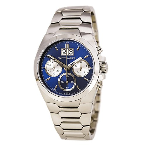 Wittnauer WN3048 Chronograph Stainless Steel Blue Dial for sale  Delivered anywhere in USA
