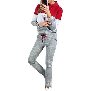 Conjunto de Chándal SUNNSEAN Tops de Mujer Pantalones Sudadera de ...