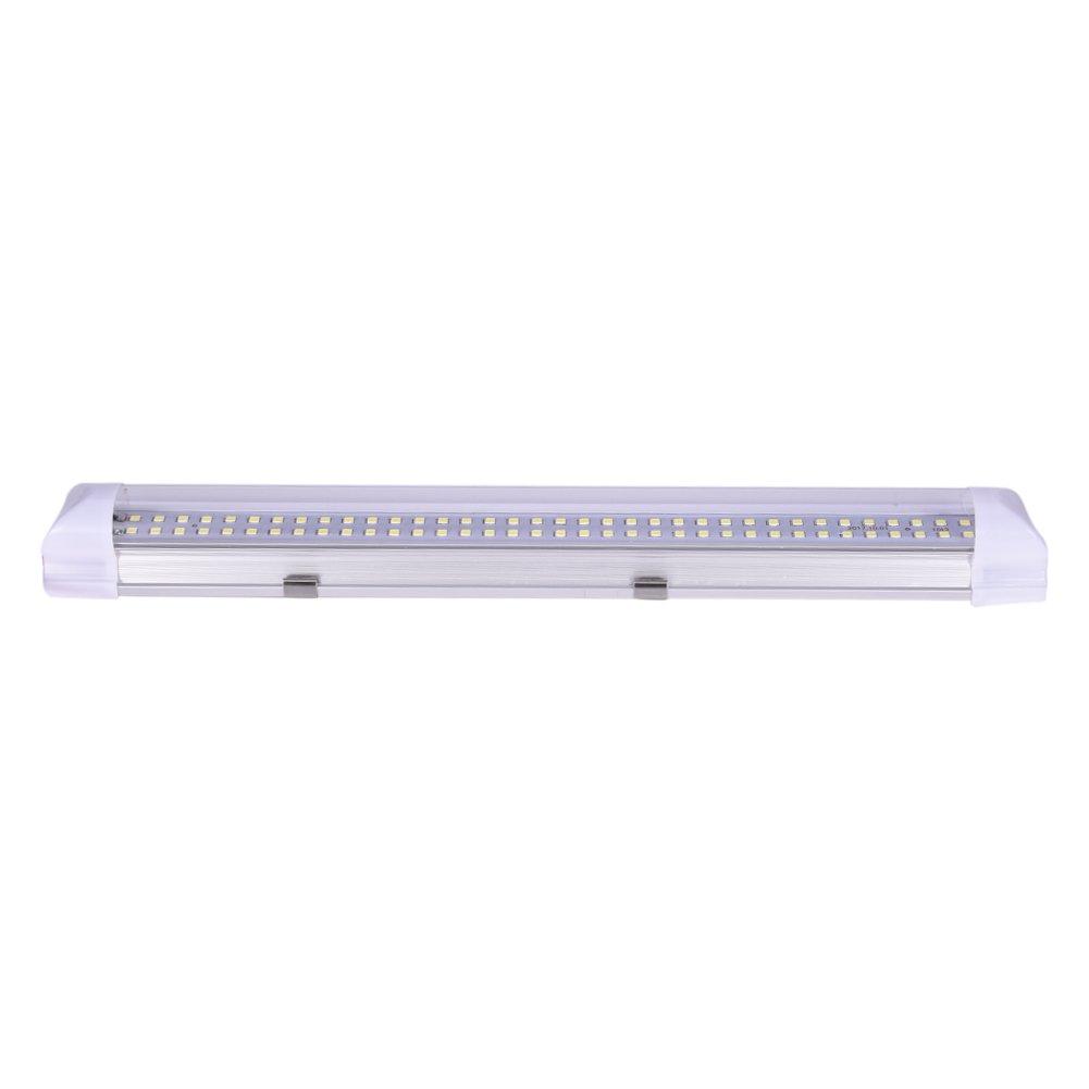 LED Luce al neon, Sundlight 72 LEDs Interni auto Luci bianche a strisce Barra lampada 12V 4, 5W con interruttore on/off per Truck Camper Boat