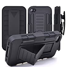 iPhone 4/4S Case,Stanlance Swivel Belt Clip Holster Shell Cover with Kickstand [MILITARY GRADE] Heavy Duty Sturdy Rubber Armor Case for iPhone 4/4s