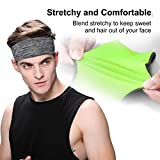 EasYoung Headbands for Men, 3-Pack Men's Sweatbands Headbands, Sport Headbands for Running, Hiking, Yoga, and Performance Stretch, Moisture Wicking Headbands
