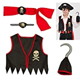 AMSCAN Deluxe Pirate Halloween Accessory Kit for Boys, 5 Pieces