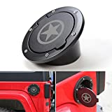 RT-TCZ Fuel Filler Door Cover Gas Cap Exterior Accessories For Jeep Wrangler JK & Unlimited 2007-2017(Star)