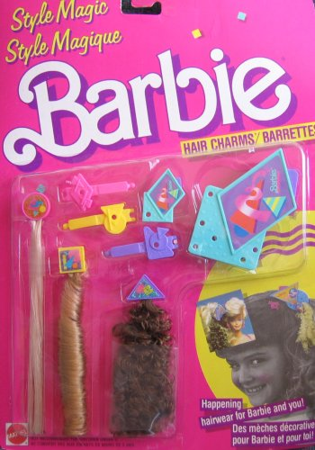 Style Magic Barbie Hair Charms/Barrettes - Happening Hairwear For Barbie & You! (1988 Mattel Canada)