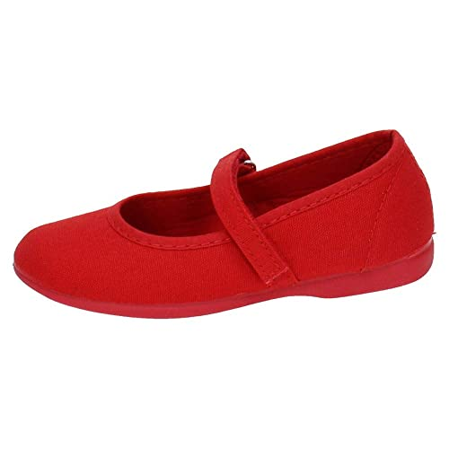 MADE IN SPAIN 750 Bambas DE Tela ROJA NIÑA Zapatillas Rojo 25