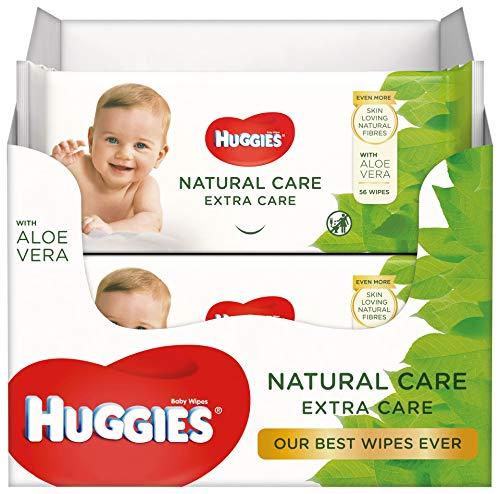 Huggies baby billendoekjes Natural Extra Care – 12 x 56 doekjes – Voordeelverpakking