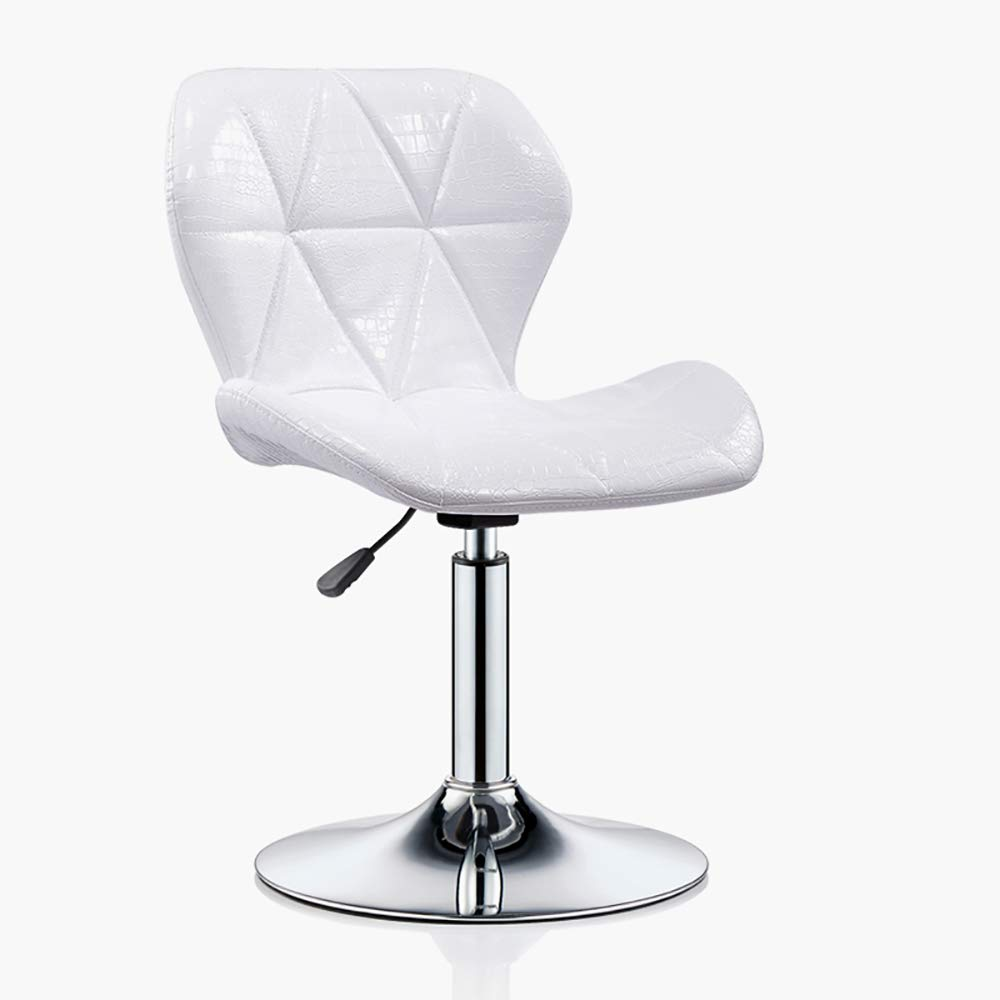 White2 bar Table and Chair, Office Work Stool Chair, Adjustable 360° redatable, Round Front Reception Stool-White2