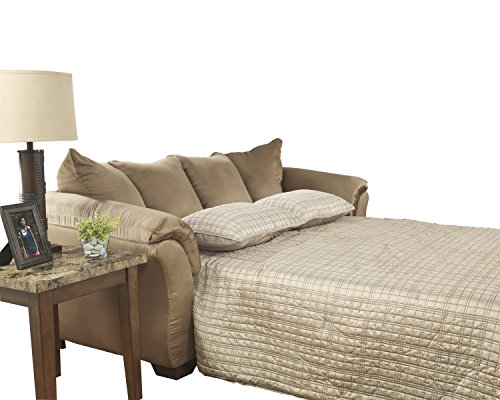 Ashley Furniture Signature Design - Darcy Sleeper Sofa - Full Size - Ultra Soft Upholstery - Contemporary - Mocha