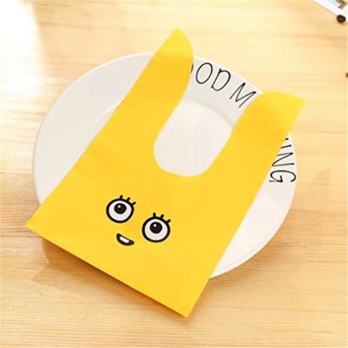 10Pcs/Lot Cute Rabbit Ear Cookie Bags Gift Bags For Candy Bi