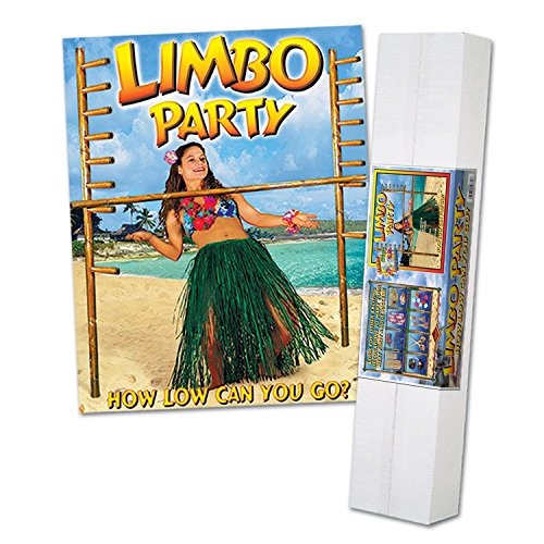 Limbo Party Kit - How Low Can You Go Luau Limbo Party Kit with Limbo Music CD 6'
