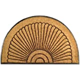 Imports Decor Half-round Rubber Back Coir Doormat, Sunrise, 24-Inch by 36-Inch