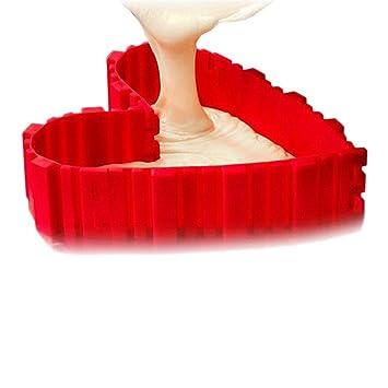 Juego de 4 moldes de silicona para tartas mágicas, puzzle de varios estilos, molde de silicona para repostería, molde de silicona: Amazon.es: Hogar