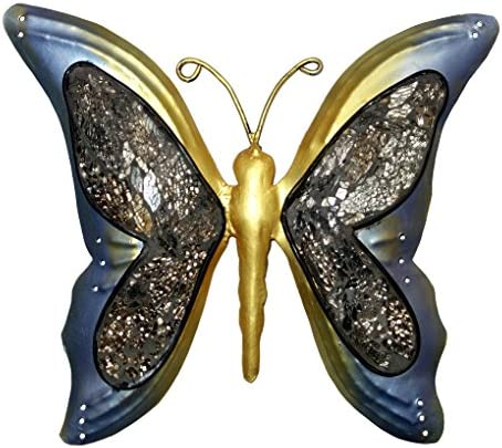 Lalhaveli Nature Inspired Metal Butterfly Decorative Wall Art Trio, Hang Indoors or Outdoors