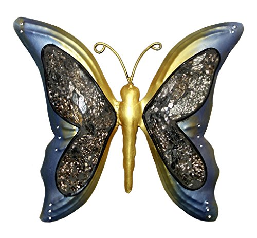 Nature Inspired Metal Butterfly Decorative Wall Art Trio
