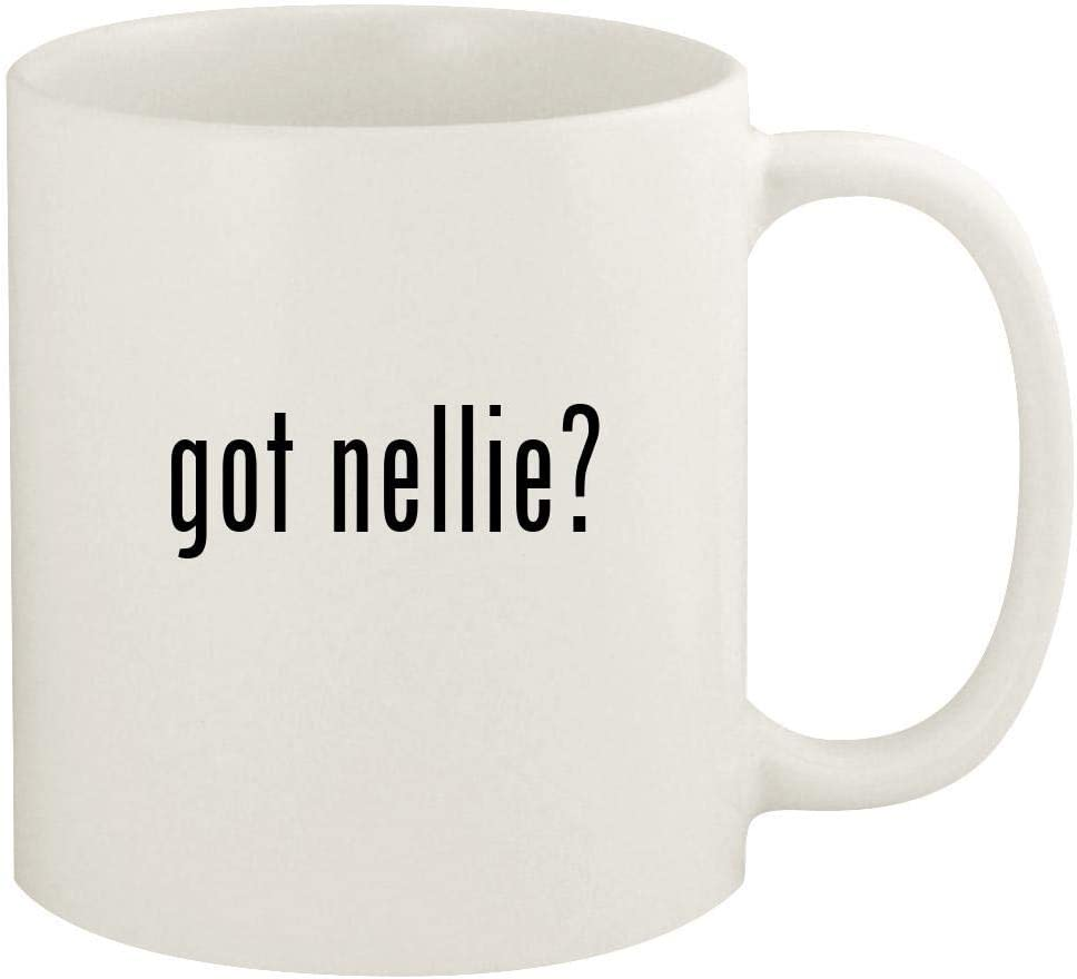 got nellie? - 11oz Ceramic White Coffee Mug Cup, White