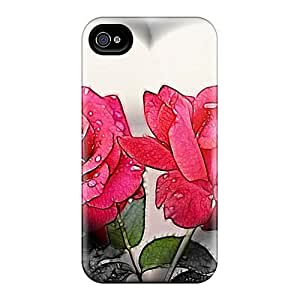 QLPWogn7030wLdWx DaMMeke Awesome Case Cover Compatible With Iphone 4/4s - Heart Roses