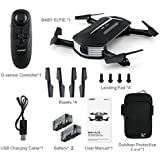 Nacome New JJRC H37 BABY ELFIE RC Quadcopter Headless Mode 4CH Drone Selfie Toys With 2 Battery (Black)